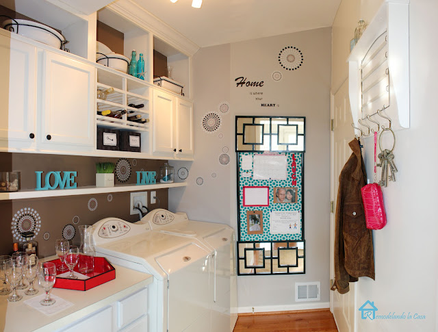 laundry room makeover with lots of storage space