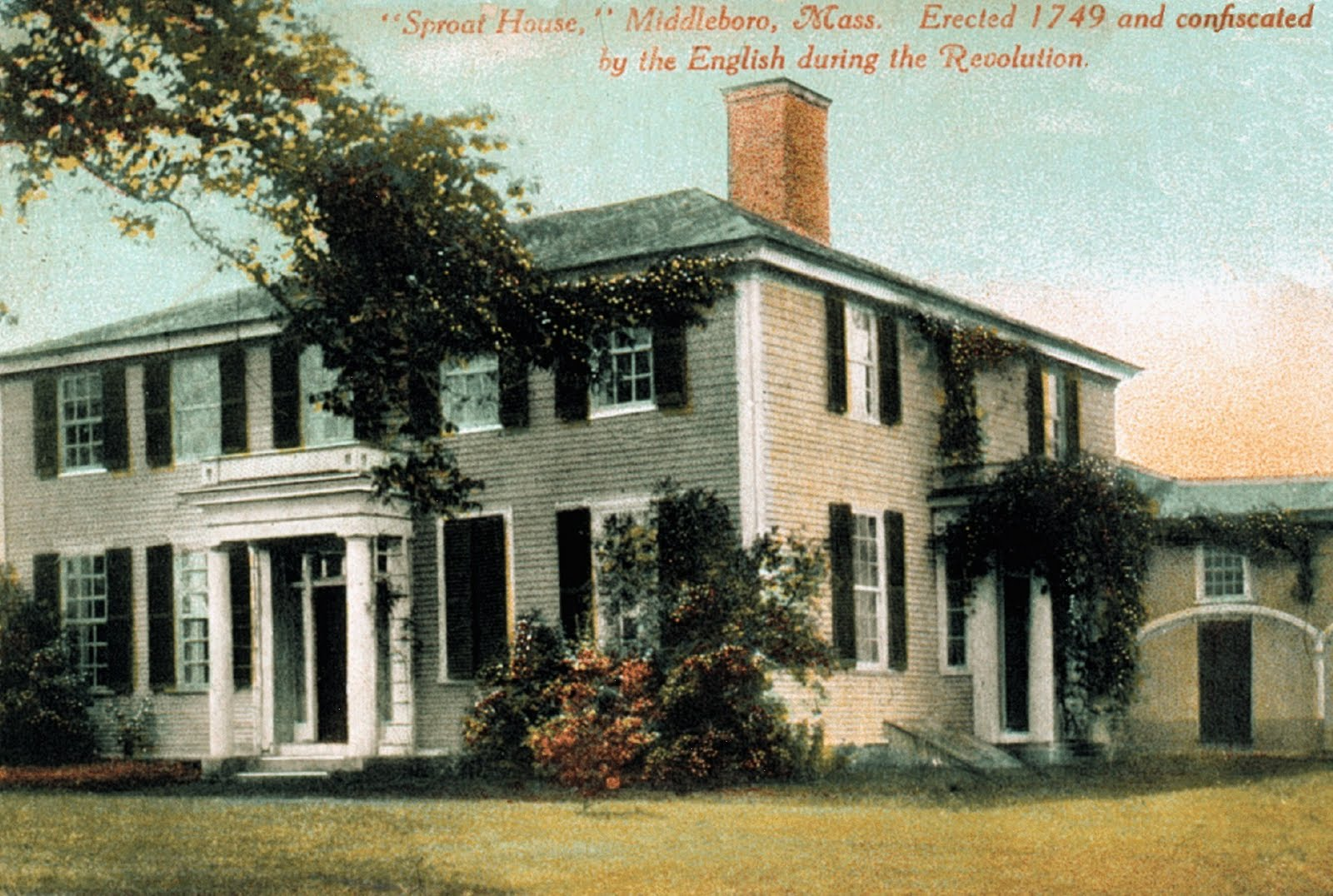 Recollecting Nemasket: The Peter Oliver House, 1769 on