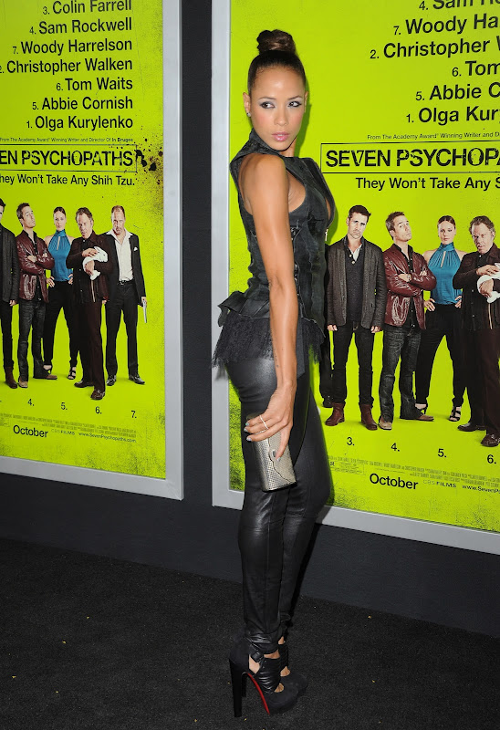 Dania Ramirez in leathe routfit at Seven Psychopaths Movie Premiere in L.A. 0ct. 2012