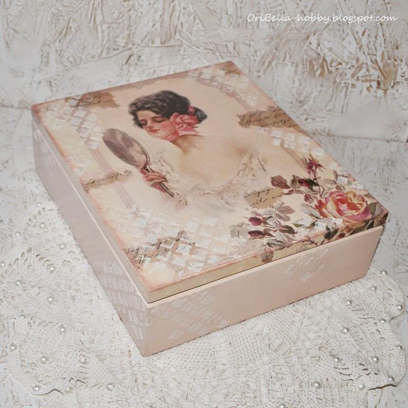379. Romantycznie i kobieco – szkatułka decoupage.