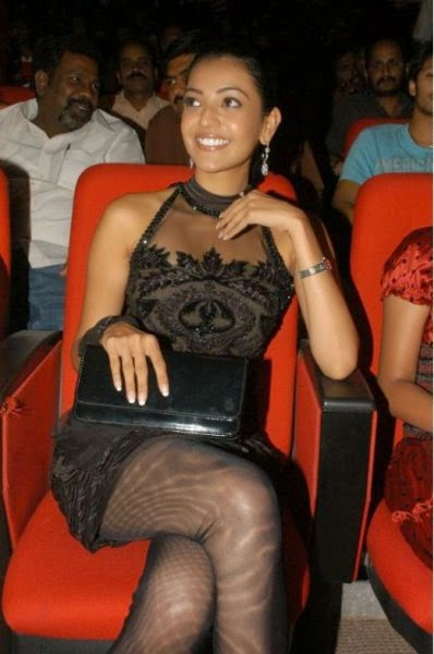 Kaal agarwal in black mini skirt cross leged pics of bollywood tollywood actresses hot sexy upskirt transparent legs pics