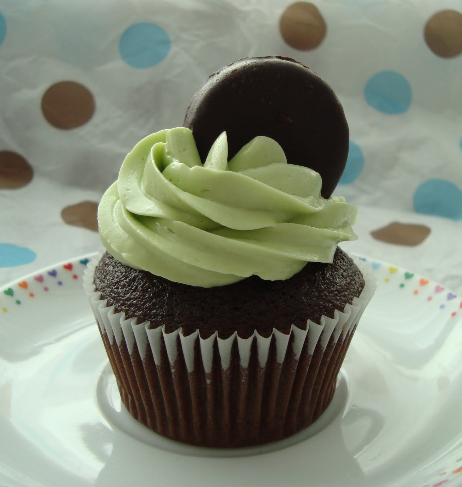 Chocolate Mint Cupcakes Recipe — Dishmaps