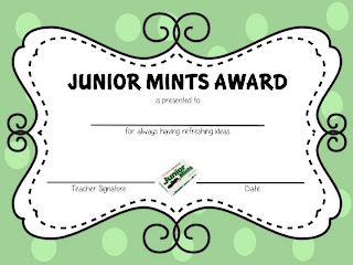 candy awards certificate template just bcause