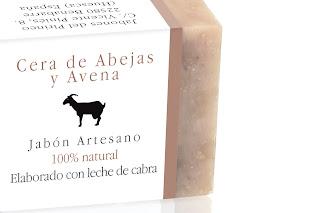 Jabón Natural de Cera de Abejas y Avena