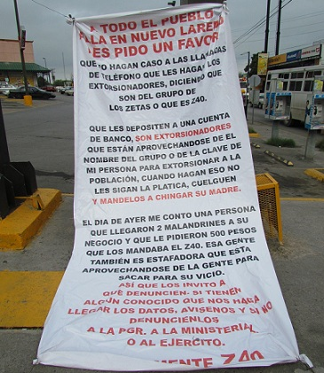 h e z 40 banners tell nuevo laredo citizens not to fall for fake