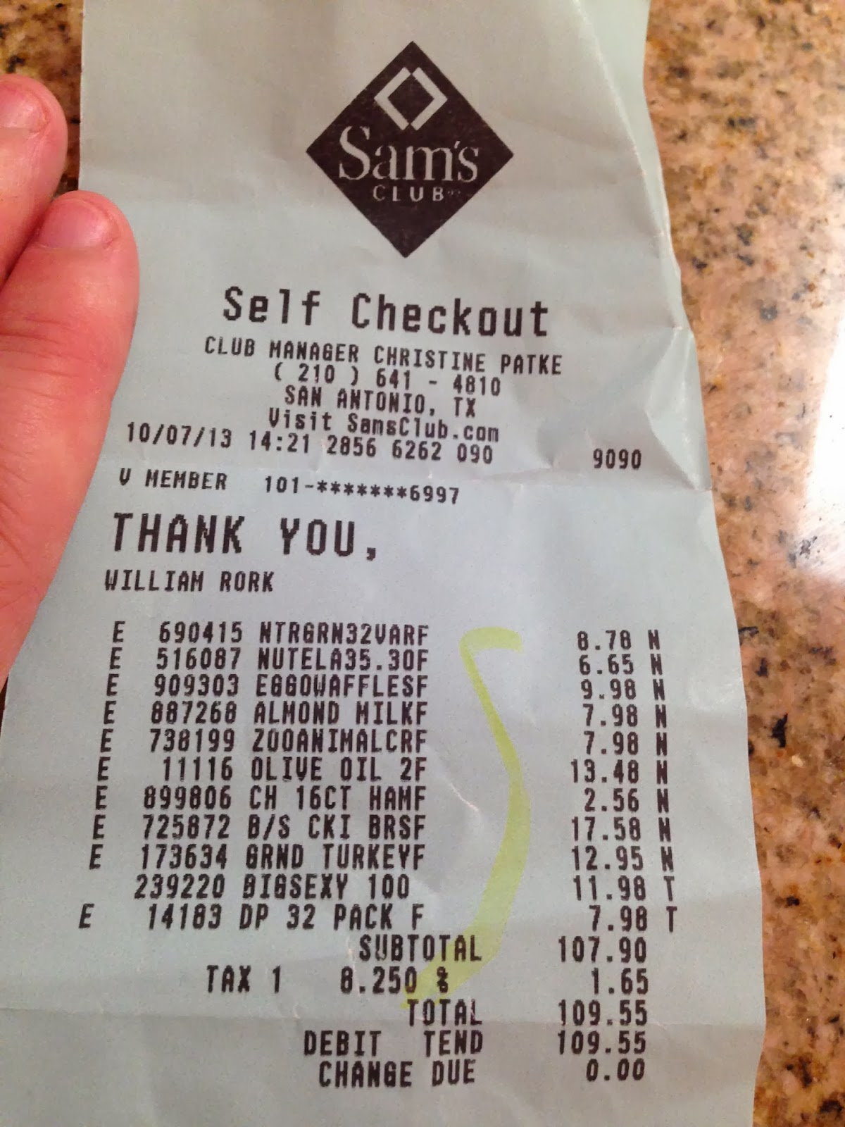 Sam s club credit card payment - Sam S Club 6653 Receipt