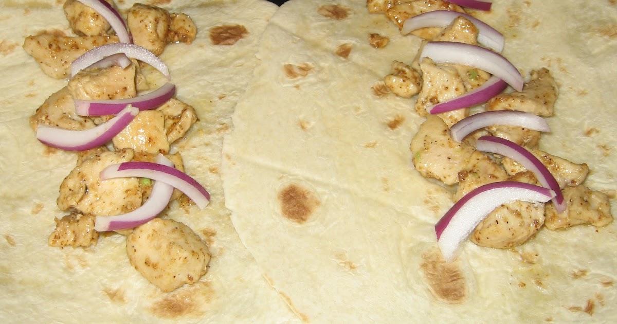 Tortilla wraps med skinke