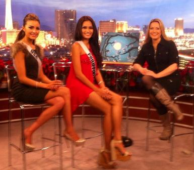 Miss USA Olivia Culpo and Miss Philippines Janine Tugonon on FOX5 Las Vegas