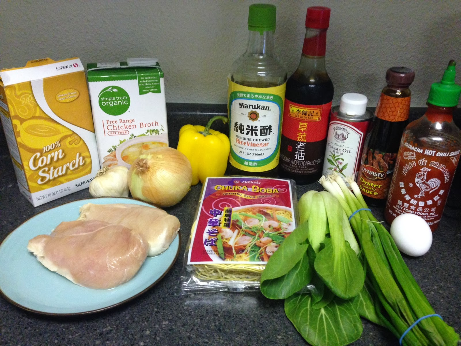 Courtney Pins: Saucy Chicken Stir Fry with Ramen Noodles and Bok Choy