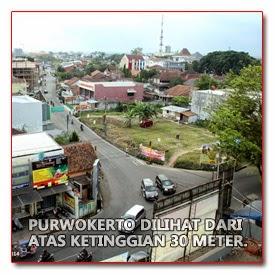 Penampakan Sebagian Purwokerto dari Ketinggian ± 30 Meter   Foto oleh : klikmg fotografer Purwokerto