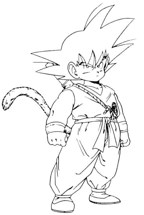 Dibujos animados para colorear: Dragon Ball Z Colorear