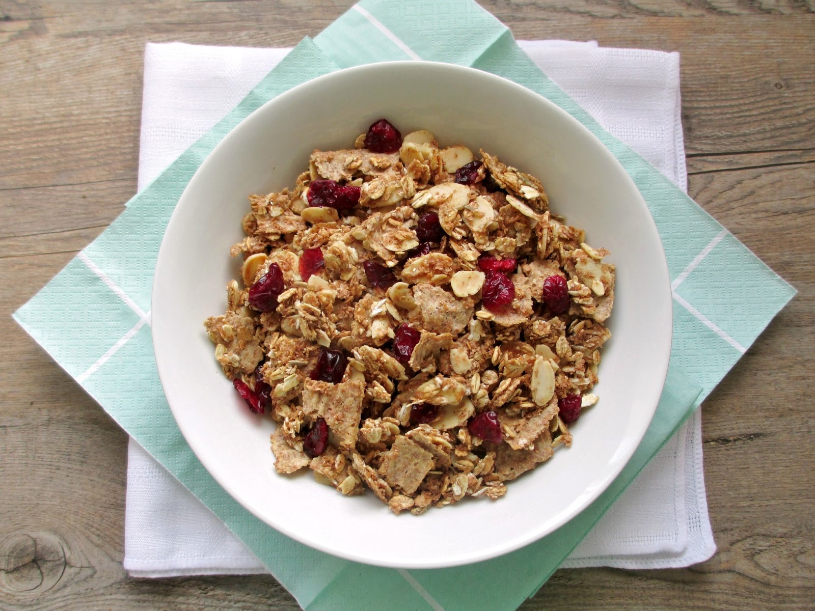 Vanilla spice bran flake cereal with almonds and cranberries the inspiration to make my own cereal came from a recipe i saw on pom wonderfuls site it sounded pretty easy once you have the right ingredients ccuart Choice Image