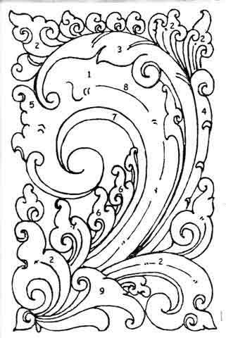 ... oleh motif motif pola hias kawung yang terbentuk oleh motif motif