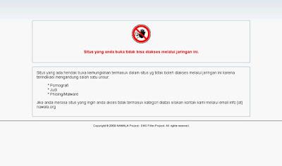 Cara Menembus website Yang Di Blokir Nawala / Telkom