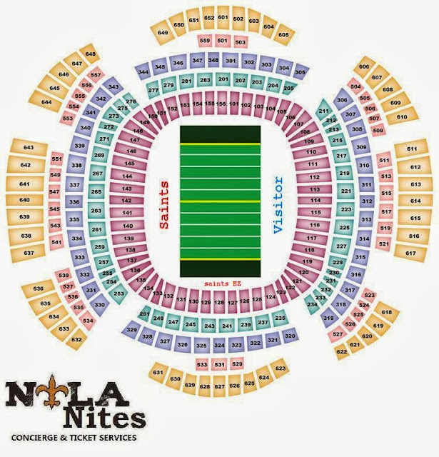 Nola nites tickets concierge services for Mercedes benz dome new orleans seating chart
