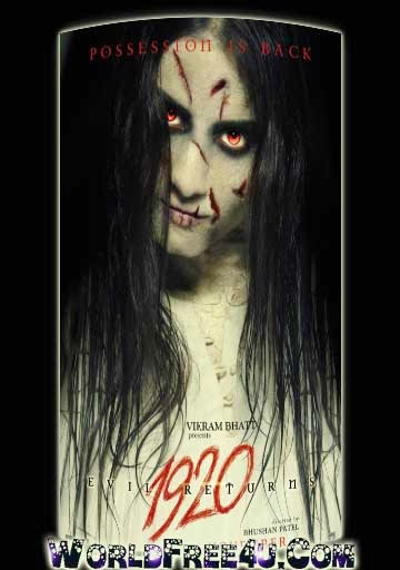 Poster Of Bollywood Movie 1920 Evil Returns (2012) 300MB Compressed Small Size Pc Movie Free Download worldfree4u.com