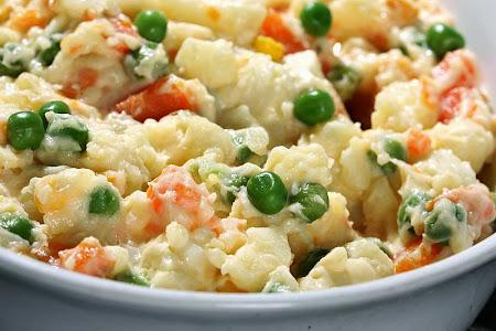 Ensalada de pollo pi a y crema de leche recetas de - Comidas con pollo faciles ...