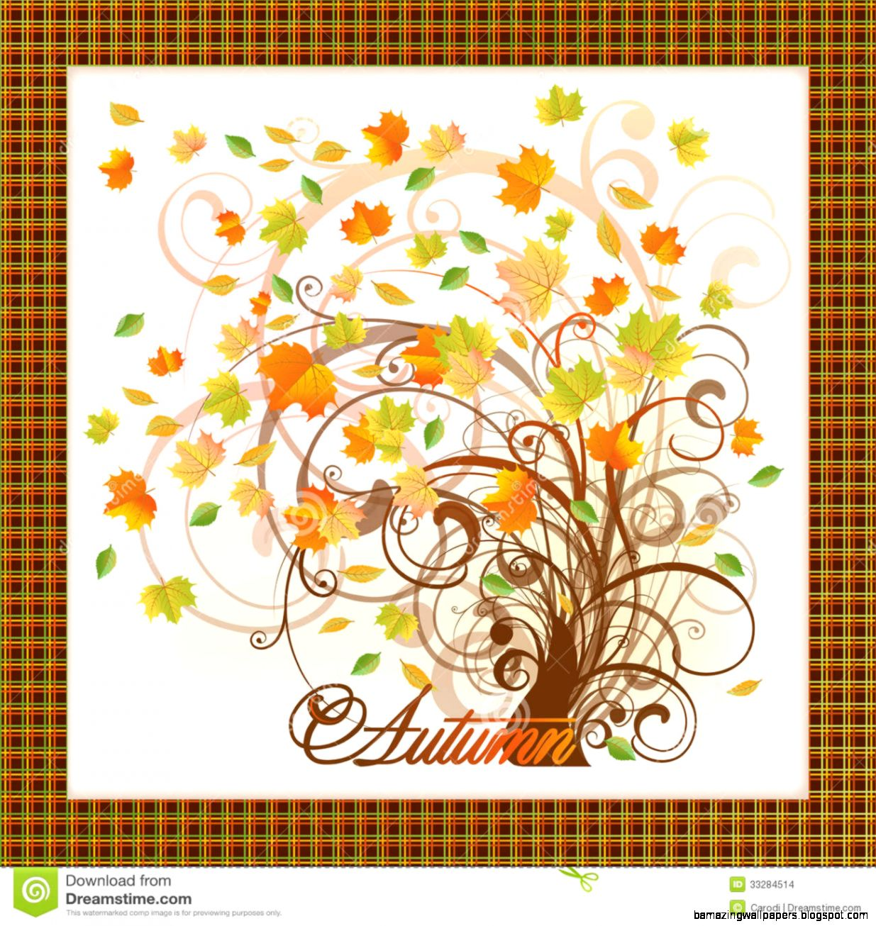 Elegant Autumn Tree Card Stock Images   Image 33284514