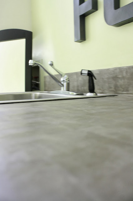 DIY Concrete Countertop using Ardex Feather Finish by Designer Trapped in a Lawyer's Body
