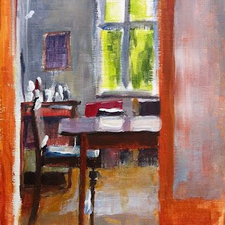 View to the Dining Room by Liza Hirst