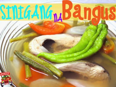 A bowl of hot Sinigang na Bangus