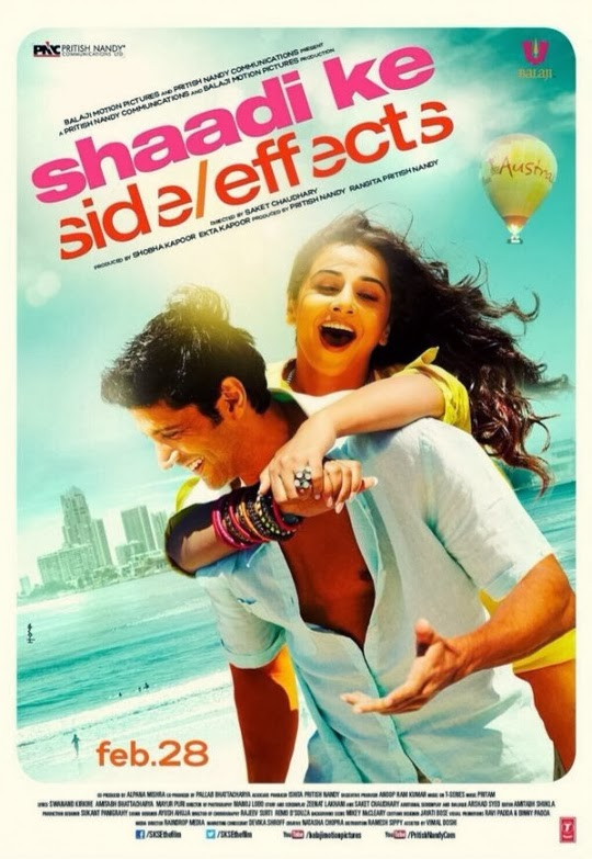 Complete cast and crew of Shaadi Ke Side Effects (2014) bollywood hindi movie wiki, poster, Trailer, music list - Farhan Akhtar and Vidya Balan