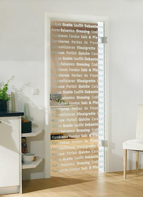 Estas puertas de cristal decorativo de Bartels Doors tienen un estilo ideal.