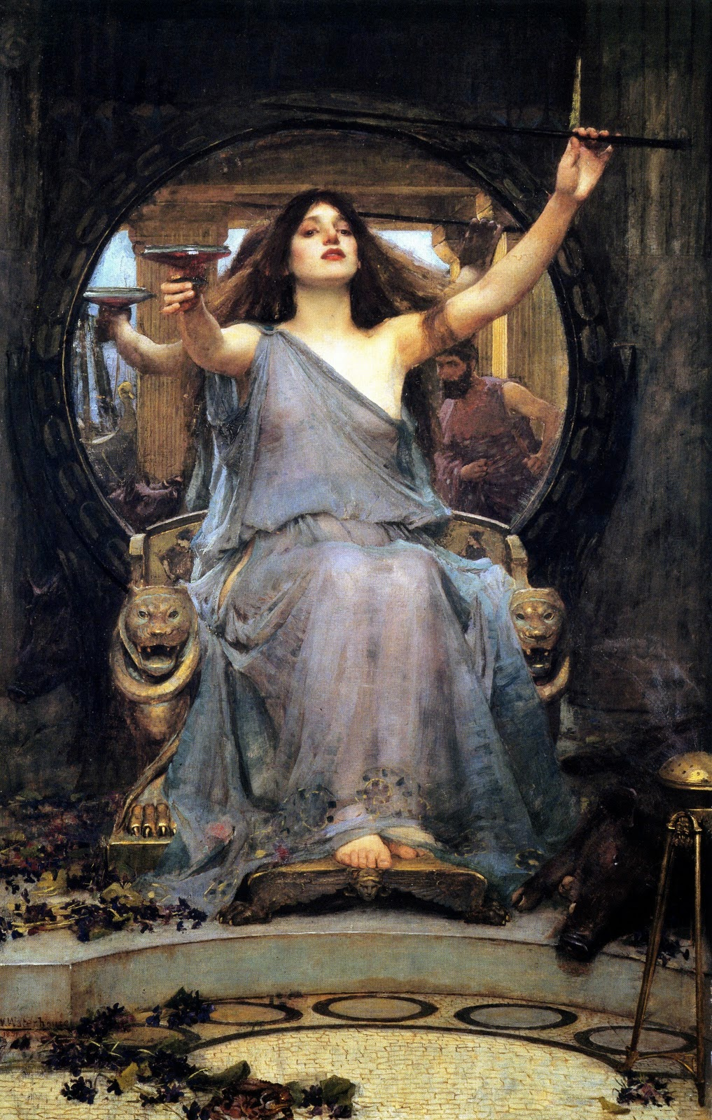 "Sun Ra song ""Circe"" from When Sun Comes Out: Circe Offering the Cup to Odysseus by John William Waterhouse"