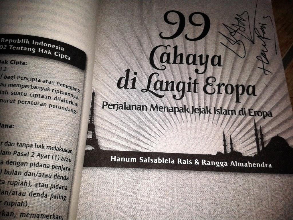Tandatangan dari penulis, Hanum Rais