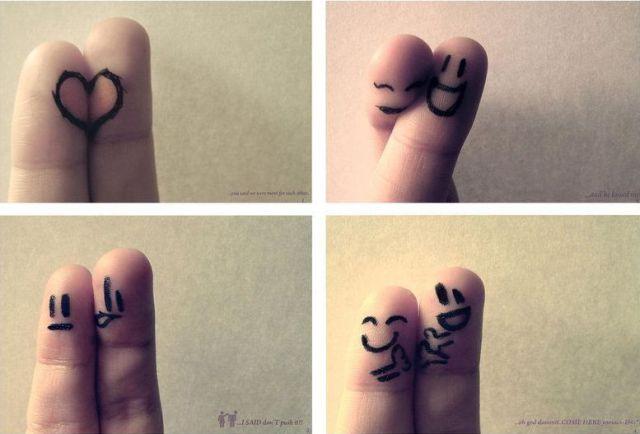 Casal de dedos fofos