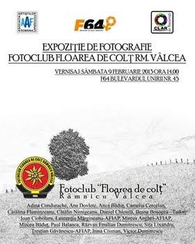 EXPOZIŢIE DE FOTOGRAFIE LA F64  09 - 24.02.2013