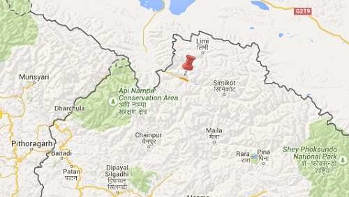 humla earthquake map