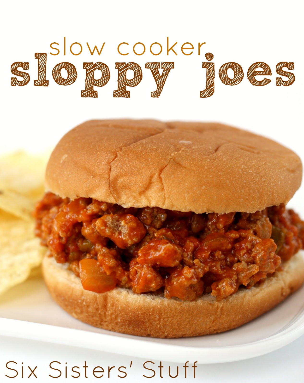 Slow Cooker Sloppy Joes | Six Sisters' Stuff