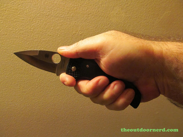 Spyderco Native Pocket Knife: Choked Up Grip