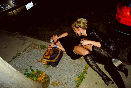 Drunk girl used