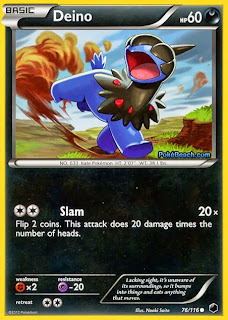 Deino Plasma Freeze Pokemon Card