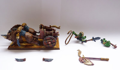 Savage Orc Boar Chariot conversion with magents