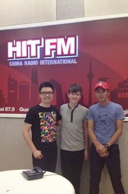 Greyson Chance does radio interview at Hit FM China in Beijing
