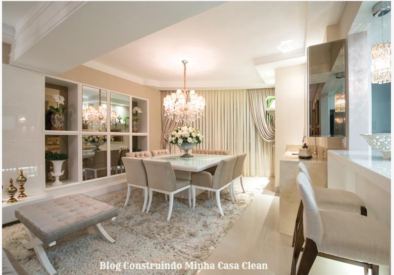 Sala De Estar Na Cor Bege ~ Sala de jantar mais de perto! Mesa branca com cadeiras bege clara