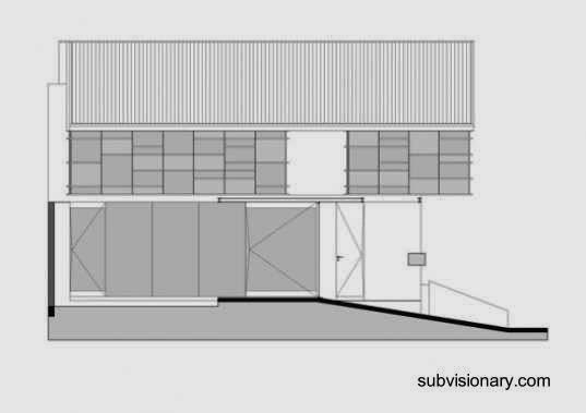 Plano arquitectónico de alzada de casa en Indonesia