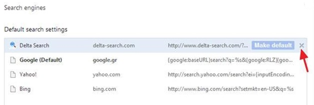 remove DELTA-SEARCH from Google Chrome