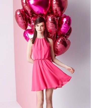 lush pink skater dress date night valentines day