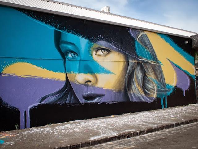 New Street Art Murals By Australian Artist RONE in Juarez, Mexico and Brunswick, Australia. 1