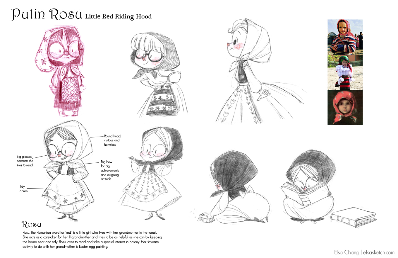 Character Design Portfolio : Art portfolio of elsa chang