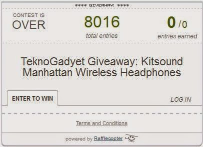 Kitsound Manhattan Wireless Headphones Giveaway Winner