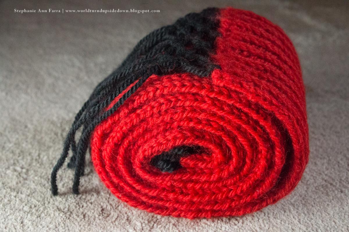 Knitting Pattern Turn : World Turnd Upside Down: Easy Knitting Civil War Scarf / Comforter