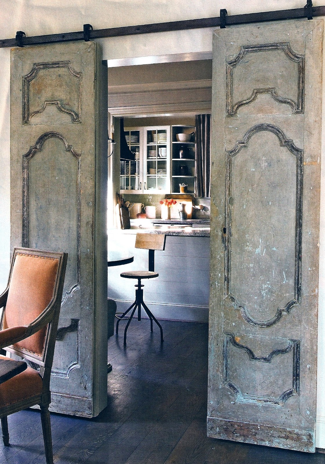 T h e v i s u a l v a m p french doors with a twist for French barn doors
