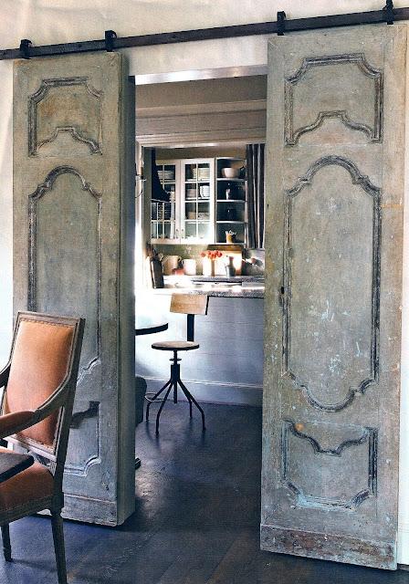 T h e v i s u a l v a m p french doors with a twist for French door barn door