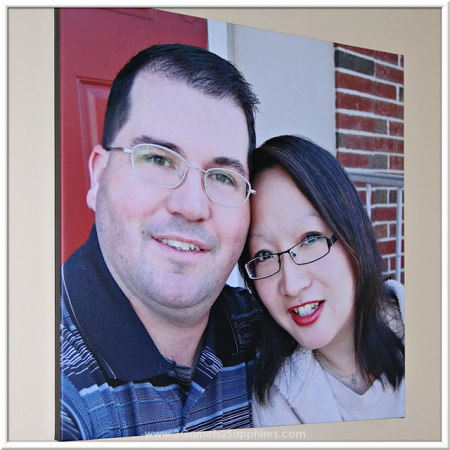CanvasPop Square Photo Canvas Print Gift Idea for Couple  |  www.3Garnets2Sapphires.com