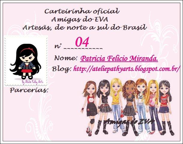 CARTEIRINHA AMIGAS DO EVA